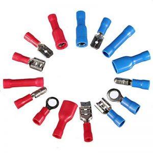 Ensembles de bornes a sertir - SODIAL(R) 200pcs Isole Assortiment de raccordement a sertir de fils electriques connecteur Spade Tube de la marque SODIAL(R) image 0 produit
