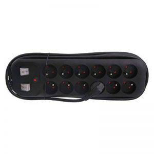 Exin 54.402.32 Bloc multiprise 12 fois avec 2 interrupteurs 3 m 3 x 1,5 Noir de la marque Exin image 0 produit