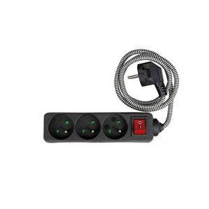 Expert Line 486863 Bloc 3 Prises avec Interrupteur, Noir/Blanc, 1 m de la marque Expert Line image 0 produit