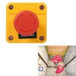 Fdit Boîte de Commande Bouton Poussoir Verrouillage Arret d'urgence Rouge en Plastique Signe D'arrêt Champignon Station de Maison d'urgence 660 V 10A de la marque Fdit image 4 produit