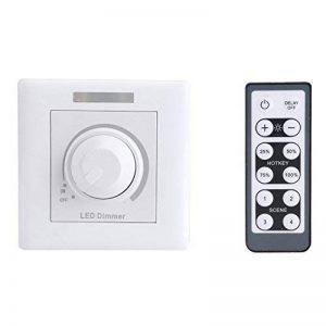 Fdit Commutateur de gradateur à LED avec télécommande IR Réglable à distance 12 touches de télécommande pour panneau d'armoire maison 200W(220V) de la marque Fdit image 0 produit