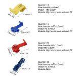 FEIGO Kit Cosse Electrique, Connecteur Rapide Isolé Assortiment Multicolore pour Fils et Câbles 0.5~6mm² - 85 Pièces de la marque FEIGO image 2 produit