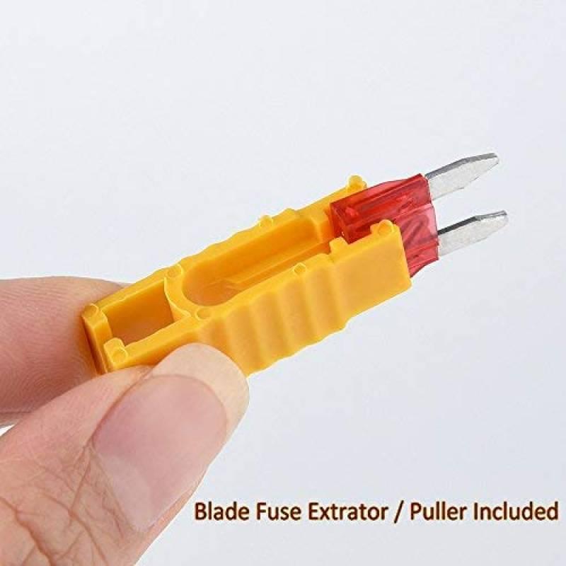 Zacro 140pcs Fusible Lame de 16mm 5A 7.5A 10A 15A 20A 25A 30A