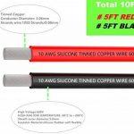 Fil électrique 10 AWG Calibre 10 Branchez Fil Silicone câble 3 m [1.5 m Noir et rouge 1.5 m] souple et flexible 1050 brins 0,08 mm de fil de cuivre étamé haute résistance à la température de la marque TUOFENG image 1 produit