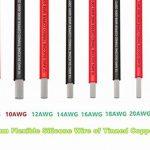 Fil électrique 10 AWG Calibre 10 Coque en silicone Branchez Fil câble [3 m Noir et rouge 3 m] souple et flexible 1050 brins 0,08 mm de fil de cuivre étamé haute résistance à la température de la marque TUOFENG image 1 produit