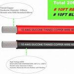 Fil électrique 10 AWG Calibre 10 Coque en silicone Branchez Fil câble [3 m Noir et rouge 3 m] souple et flexible 1050 brins 0,08 mm de fil de cuivre étamé haute résistance à la température de la marque TUOFENG image 2 produit