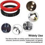 Fil électrique 12 AWG Calibre 12 Silicone Branchez Fil câble 3 m [1.5 m Noir et rouge 1.5 m] souple et flexible 680 brins 0,08 mm de fil de cuivre étamé haute résistance à la température de la marque TUOFENG image 2 produit