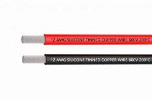Fil électrique 12 AWG Calibre 12 Silicone Branchez Fil câble 3 m [1.5 m Noir et rouge 1.5 m] souple et flexible 680 brins 0,08 mm de fil de cuivre étamé haute résistance à la température de la marque TUOFENG image 0 produit