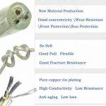 Fil électrique/3Core ronde PVC Blanc secteur électrique Fil de cuivre de câble haute résistance à la température câble d'alimentation 3x 0,75mm² Twin et câble de terre–5metre Longueur de coupe Flexible Bassin câble, Transparent de la marque LumenTY image 3 produit
