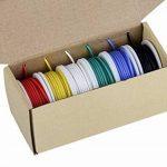 Fil électrique de calibre 30, kit de fils colorés Fil de silicone flexible 30 AWG (6 bobines de 20 mètres de couleur différente) Fil électronique 60V de la marque TUOFENG image 3 produit