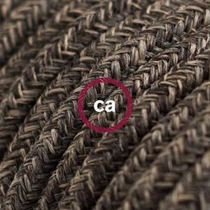 Fil Électrique Rond Gaine De Lin De Couleur Naturel Marron RN04 - 10 mètres, 3x0.75 de la marque Creative-Cables image 0 produit