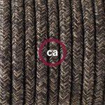 Fil Électrique Rond Gaine De Lin De Couleur Naturel Marron RN04 - 10 mètres, 3x0.75 de la marque Creative-Cables image 1 produit