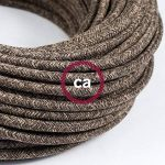 Fil Électrique Rond Gaine De Lin De Couleur Naturel Marron RN04 - 10 mètres, 3x0.75 de la marque Creative-Cables image 2 produit