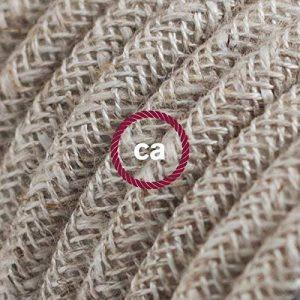 Fil Électrique Rond Gaine De Lin De Couleur Naturel Neutre RN01 - 5 mètres, 2x0.75 de la marque Creative-Cables image 0 produit