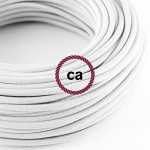 Fil Électrique Rond Gaine De Tissu De Couleur Coton Tissu Uni Blanc RC01 - 5 mètres, 2x0.75 de la marque Creative-Cables image 2 produit