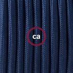 Fil Électrique Rond Gaine De Tissu De Couleur Effet Soie Tissu Uni Bleu Marine RM20 - 10 mètres, 2x0.75 de la marque Creative-Cables image 1 produit