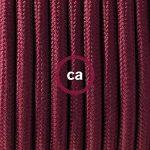 Fil Électrique Rond Gaine De Tissu De Couleur Effet Soie Tissu Uni Bordeaux RM19 - 3 mètres, 2x0.75 de la marque Creative-Cables image 1 produit