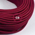Fil Électrique Rond Gaine De Tissu De Couleur Effet Soie Tissu Uni Bordeaux RM19 - 3 mètres, 2x0.75 de la marque Creative-Cables image 2 produit