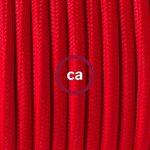 Fil Électrique Rond Gaine De Tissu De Couleur Effet Soie Tissu Uni Rouge RM09 - 5 mètres, 2x0.75 de la marque Creative-Cables image 1 produit