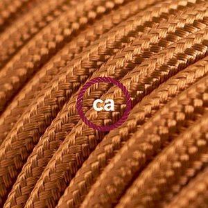 Fil Électrique Rond Gaine De Tissu De Couleur Effet Soie Tissu Uni Whiskey RM22 - 3 mètres, 2x0.75 de la marque Creative-Cables image 0 produit