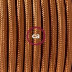 Fil Électrique Rond Gaine De Tissu De Couleur Effet Soie Tissu Uni Whiskey RM22 - 3 mètres, 2x0.75 de la marque Creative-Cables image 1 produit
