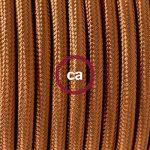 Fil Électrique Rond Gaine De Tissu De Couleur Effet Soie Tissu Uni Whiskey RM22 - 5 mètres, 2x0.75 de la marque Creative-Cables image 1 produit