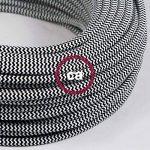 Fil Électrique Rond Gaine De Tissu De Couleur Effet Soie ZigZag Noir RZ04 - 3 mètres, 2x0.75 de la marque Creative-Cables image 2 produit