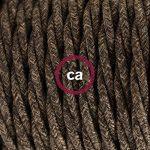 Fil Électrique Torsadé Gaine De Lin De Couleur Naturel Marron TN04 - 5 mètres, 2x0.75 de la marque Creative-Cables image 1 produit