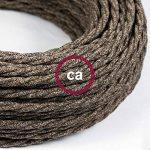 Fil Électrique Torsadé Gaine De Lin De Couleur Naturel Marron TN04 - 5 mètres, 2x0.75 de la marque Creative-Cables image 2 produit
