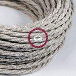 Fil Électrique Torsadé Gaine De Lin De Couleur Naturel Neutre TN01 - 3 mètres, 2x0.75 de la marque Creative-Cables image 2 produit