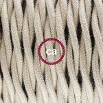Fil Électrique Torsadé Gaine De Tissu De Couleur Coton Tissu Uni Tourterelle TC43 - 5 mètres, 2x0.75 de la marque Creative-Cables image 1 produit
