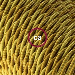 Fil Électrique Torsadé Gaine De Tissu De Couleur Effet Soie Borbone TG03 - 10 mètres, 3x0.75 de la marque Creative-Cables image 0 produit