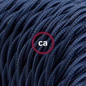 Fil Électrique Torsadé Gaine De Tissu De Couleur TM20 Bleu Foncé - 5 mètres, 2x0.75 de la marque Creative-Cables image 0 produit