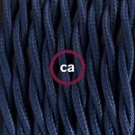 Fil Électrique Torsadé Gaine De Tissu De Couleur TM20 Bleu Foncé - 5 mètres, 2x0.75 de la marque Creative-Cables image 1 produit