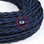 Fil Électrique Torsadé Gaine De Tissu De Couleur TM20 Bleu Foncé - 5 mètres, 2x0.75 de la marque Creative-Cables image 2 produit