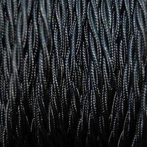 Fils Electriques Torsadé Tissu Rétro /9 Couleurs Au Choix (Noir, 15M) de la marque GUFAN image 0 produit