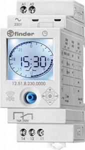 Finder 125182300000PAS Interrupteur horaire jour/hebdo digital 1 inverseur 16 A 230 AC de la marque finder image 0 produit
