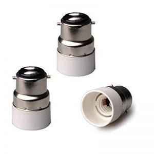 Fineled 3-pack B22vers E14Lumière adaptateur Douille convertisseur de base, BC Cap B22vers E14Culot à vis Edison ES ampoule lampe Base Socket Converter Extender adaptateur support de montage de la marque FINELED image 0 produit