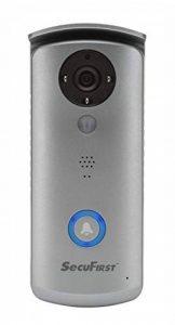 First did501–Sécurité Wi-Fi sonnette de porte avec appareil photo–HD 720p–Gris de la marque SecuFirst image 0 produit