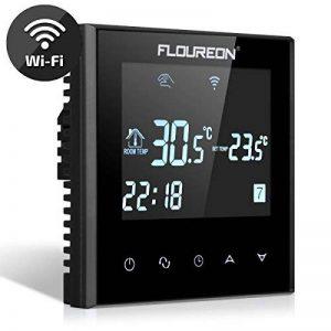 FLOUREON Thermostat d'Ambiance Intelligent Wi-Fi Thermostat Programmable sans Fil avec Écran LCD Tactile Pour Chauffage Electrique - Noir de la marque FLOUREON image 0 produit