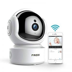 FREDI Caméra de Surveillance HD 1080P WiFi Sans fil Intérieur Cloud IP Camera Sécurité Motorisée avec Vision Nocturne Motion Detection Systeme pour Maison & Bureau CCTV supporte SD Carte jusqu'à 64Go(non incluse) de la marque FREDI image 0 produit