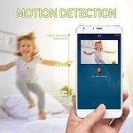 FREDI Caméra sans Fil 720P IP Caméra WiFi Surveillance Vision à Distance de Jour et Nocturne Caméra Sécurité Panoramique Moniteur Bébé Interphone Audio Bidirectionnel de la marque FREDI image 4 produit