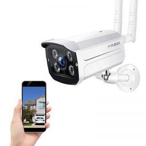 FREDI Caméra Sans Fil Extérieur Surveillance 1080P IP Caméra de Sécurité WiFi Vision Nocturne Détecteur Mouvement Système Domicile à 128G(pas inclus) de la marque FREDI image 0 produit