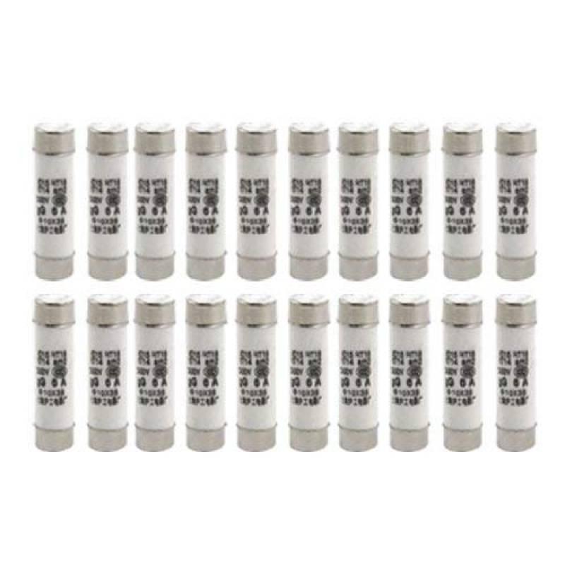 sourcingmap/® 10 Pi/èces 5 x 25 mm cylindre base fusible c/éramique bouchon fusible Tube Liens 250V 7A