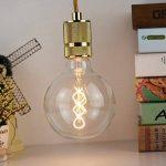 G125Edison Ampoule globe vintage LED à double spirale incurvée LED Filament clair 4W Dimmable 220/240V E27Base ampoule vintage de la marque lightingdesigner image 2 produit
