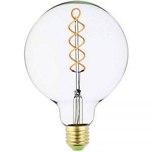 G125Edison Ampoule globe vintage LED à double spirale incurvée LED Filament clair 4W Dimmable 220/240V E27Base ampoule vintage de la marque lightingdesigner image 0 produit