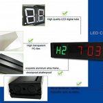 Ganxin 2,5cm haute LED Compte à rebours/jusqu'à 6chiffres Horloge pour Minuteur d'Intervalle de mode, 12/24-h Horloge en temps réel, chronomètre par télécommande de la marque Ganxin image 2 produit