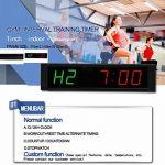 Ganxin 2,5cm haute LED Compte à rebours/jusqu'à 6chiffres Horloge pour Minuteur d'Intervalle de mode, 12/24-h Horloge en temps réel, chronomètre par télécommande de la marque Ganxin image 3 produit