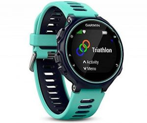 Garmin - Forerunner 735XT - Montre GPS Multisports avec Cardio Poignet (Ecran : 1,23 pouces) - Bleu et Vert d'Eau de la marque Garmin image 0 produit