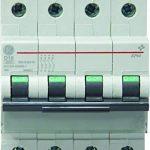 General Electric AUN566655 Disjoncteur 4 Pôles 20 A Courbe D 6 kA de la marque General Electric image 1 produit